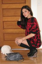 vintage old mans sweater - Jeffrey Campbell shoes - F21 ring jacket - Target soc