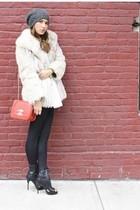 united nude shoes - Chanel bag - vintage jacket