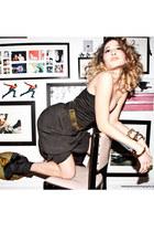 Maurie & Eve dress - Kiki de Montparnasse bracelet - KronKron heels - YSL ring