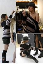 Harley Davidson boots - f21 sweater - Kiki de Montparnasse ring