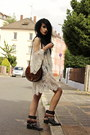 Black-cowboy-zara-boots-white-free-people-dress-brown-vintage-from-ebay-bag