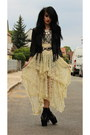 Lace-asymmetric-oasap-dress-fringe-leather-h-m-jacket