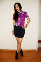 deep purple galaxy print Cappuccine Store t-shirt