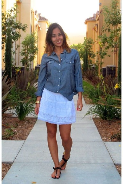 Old Navy shirt - Ardene skirt