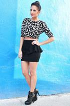 peplum mini Zara skirt