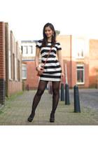 satin H&M dress - TOV essentials bag - Manfield pumps - H&M panties