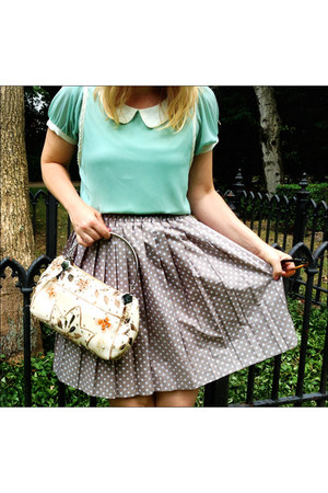 top - dotted skirt