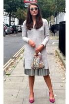 amethyst Ivanova bag - silver Zara dress - heather gray Ray Ban sunglasses