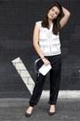 Silver-rochas-bag-black-cedric-charlier-pants-black-red-valentino-heels