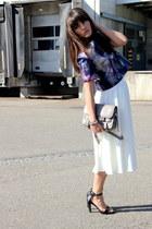 white scuba asos skirt - heather gray ps11 PROENZA SCHOULER bag