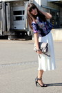 white scuba asos skirt - heather gray ps11 PROENZA SCHOULER bag