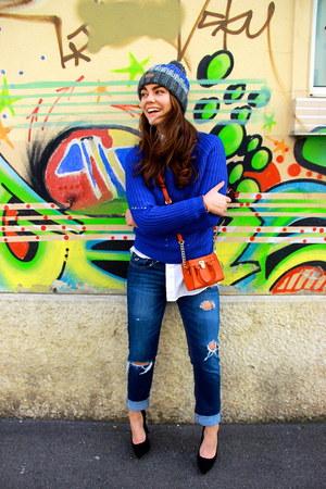 boyfriend hollister jeans - Barts hat - menswear Ralph Lauren shirt