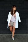 White-zara-coat-heather-gray-ps11-proenza-schouler-bag-pink-asos-shorts