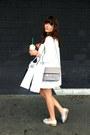 White-zara-coat-heather-gray-ps11-proenza-schouler-bag-pink-asos-shorts