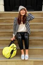 faux leather Zara pants - Nordbron hat - Primark jacket - Topshop bag