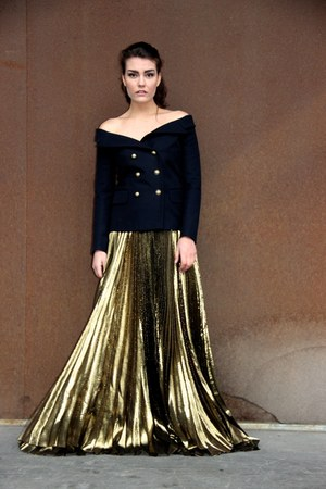 gold Faith Connexion skirt - navy Faith Connexion blazer