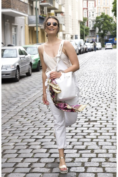 camel Carl F Bucherer watch - white Parfois bag - white Zara romper