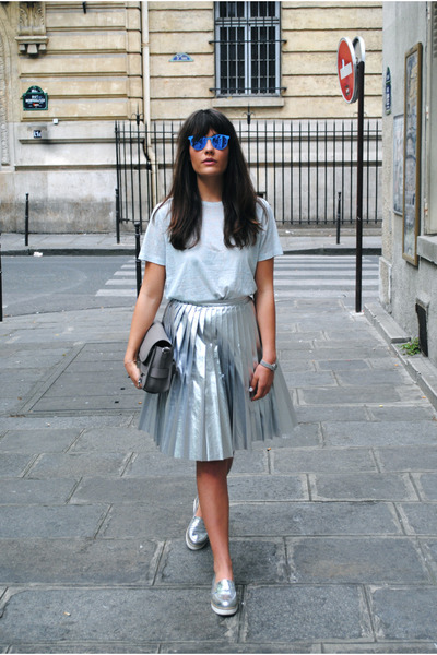 silver American Retro skirt - heather gray ps 11 PROENZA SCHOULER bag