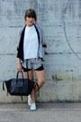 Black-silk-pattern-djeegn-shorts-black-silk-pattern-djeegn-cardigan