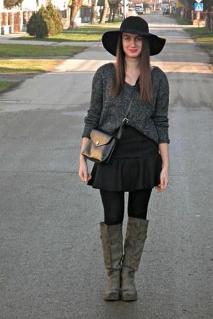 black Tally Weijl jumper - black beste shop skirt