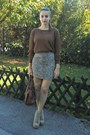 Brown-tidebuy-sweater-light-brown-pull-bear-skirt