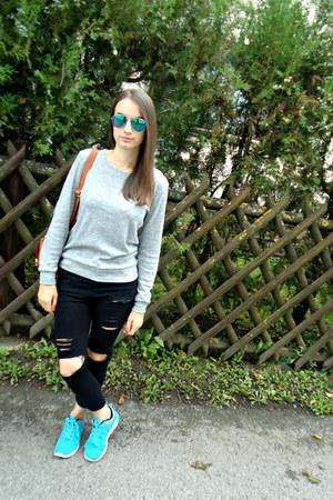 black beste shop jeans - silver blackfive sweater