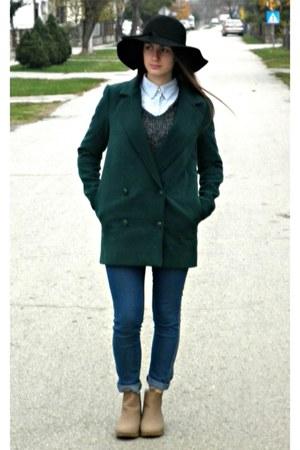 teal style moi coat