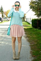 light pink Oasapcom skirt - aquamarine Romwecom jumper