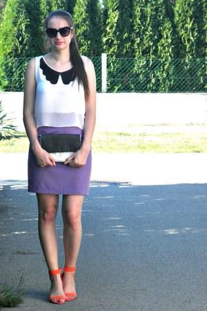 violet H&M skirt