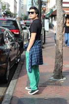H&M t-shirt - DKNY shirt - Persol sunglasses - Converse sneakers - PacSun pants