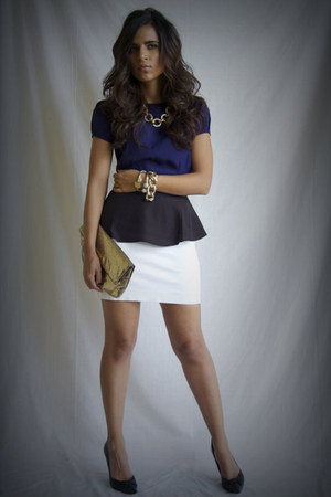 navy H&M blouse