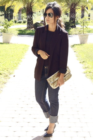 black Zara blazer - navy Forever 21 jeans