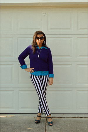 deep purple purple delias sweater - turquoise blue Walmart blouse
