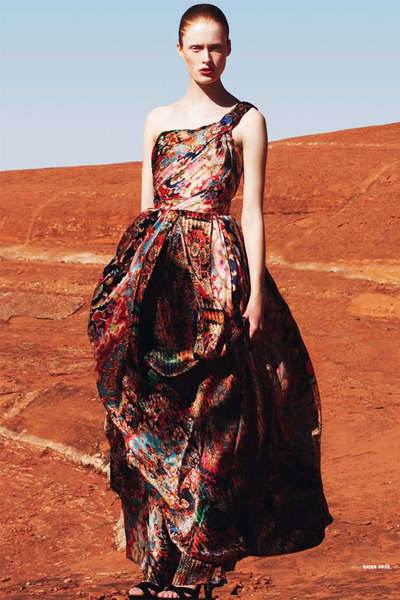 crimson Naeem Khan dress