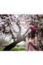 Beige-floral-linen-giagias-closet-skirt-red-red-woolen-hat-hat-hat