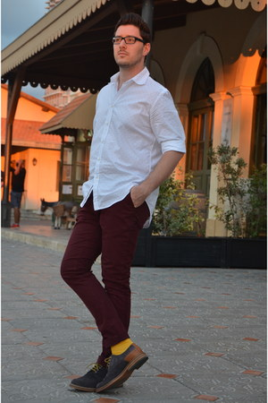 mustard Zara socks - heather gray Zara shoes - white Zara shirt