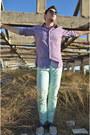 Beige-zara-shoes-purple-massimo-dutti-shirt-lime-green-zara-pants