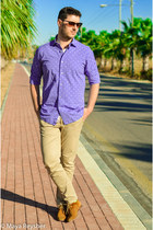 chartreuse Zara socks - tawny Aldo shoes - blue Massimo Dutti shirt