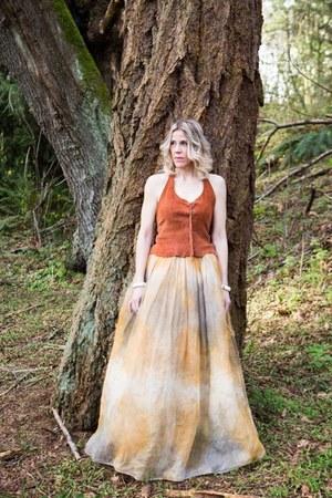 bronze ombre skirt random brand skirt - second hand shirt