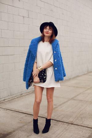 Topshop coat - Nine West boots - Zara dress