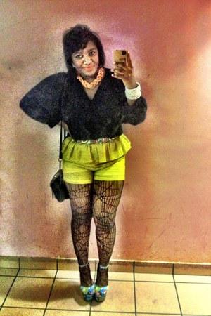 Black Chiffon Blouse blouse - Jeffrey Campbell shoes