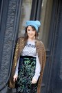 Tawny-h-m-coat-turquoise-blue-zadig-voltaire-hat-white-nike-sneakers