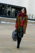 Zara shoes - hm coat - 31 Phillip Lim bag - sequins Topshop skirt