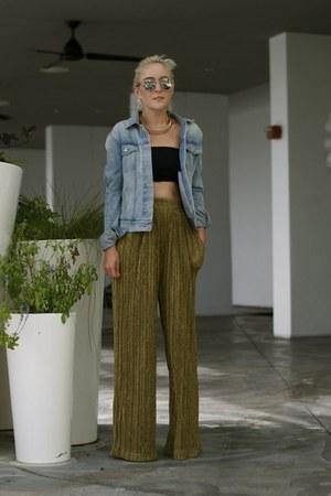 Gap jacket - christian dior sunglasses - H&M pants - swarovski necklace