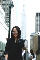 H&M blazer - H&M shoes - Pamela Aguiar bag - christian dior sunglasses
