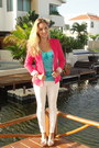 Hot-pink-zara-blazer-louis-vuitton-bag-turquoise-blue-charlotte-russe-top