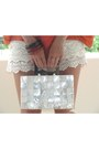 Eggshell-zara-shorts-off-white-capiz-shell-bag