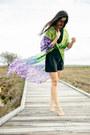 Black-shell-gillian-tennant-dress-chartreuse-silk-maxi-style-moi-cardigan