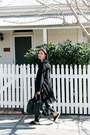 Black-duster-boohoo-coat-black-mira-minskat-copenhagen-bag