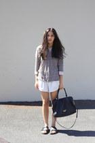 tan striped Closed-End top - black mira Minskat Copenhagen bag